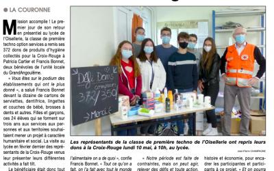 Article Le Courrier français du 21 Mai 2021